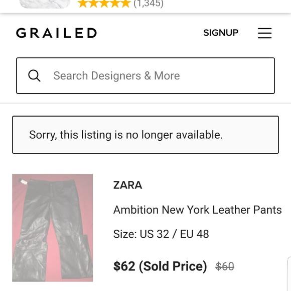 Zara Pants - Zara Ambition black leather pants in size 26